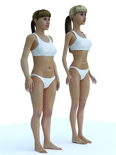 Comparaison Ado-Barbie