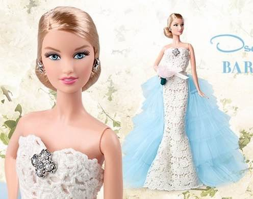 Barbie mari e oscar de la renta miss vinyl blog - Barbie mariee ...